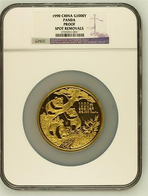 Click now to see the BUY IT NOW Price! 1990 CHINA GOLD 1000YUAN 12OZ PANDA PROOF NGC GRADED MINTAGE 500
