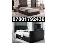 BRAND NEW TV BED WITH GAS LIFT STORAGE Fast DELIVERY