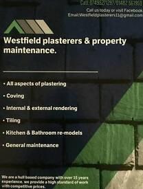 Plastering..tiling. Decorating