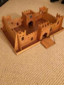 Child's wooden fort