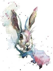 March Hare Painting Print