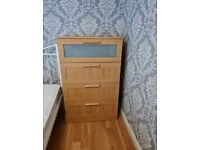 Ikea chest of drawers and bedside table