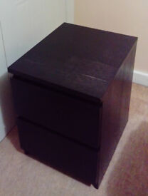 Black bedside tables with drawers
