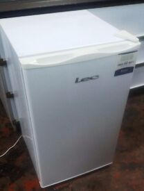 LEC 84x50cm Under Counter Fridge With Ice Box White, Mini FRIDGE FREEZER
