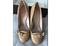 Mulberry Bayswater Pump Nude Camel Tan Size 5 Uk 38 Patent Shoes