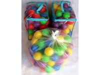 220 CHILDRENS KIDS PLASTIC MULTI COLOURED SOFT PLAY BALLS for BALL PITS TENTS POOLS BOUNCY CASTLEs