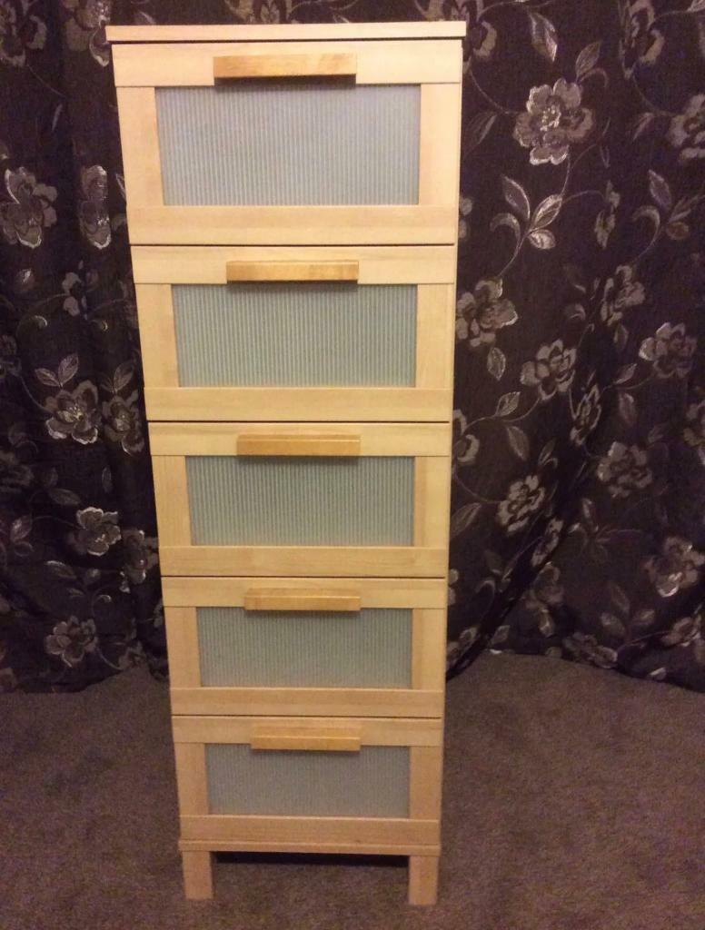 Ikea Aneboda 5 Tall Drawers
