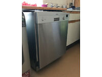 Dishwasher in silver metal from Siemens