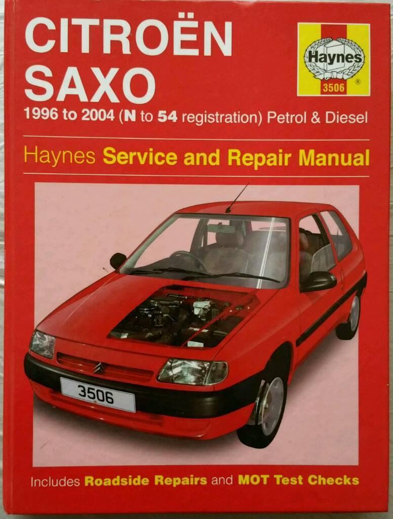 Haynes Service & Repair Manual for Citroen Saxo 1.1 ...