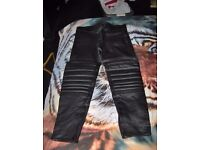 mens pair of PROTO leather motorbike trousers
