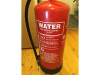 Nine litre water fire extinguisher for sale