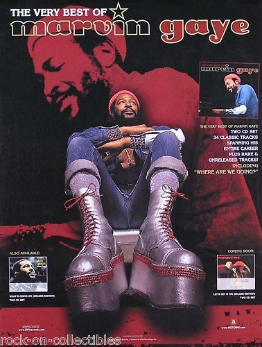 Marvin Gaye 2001 The Very Best Of Original Promo Poster