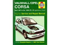 HAYNES VAUXHALL/OPEL CORSA MANUAL 1997 - 2003 PETROL