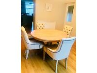 Neptune Henley Dining Table and Henley chairs