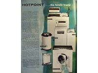 WANTED: Vintage washing machines, dryers vacuums and dishwashers from the 1960s-1980s