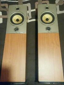 Wharfedale diamond floor stand speakers kevlar cone high end home audio high end