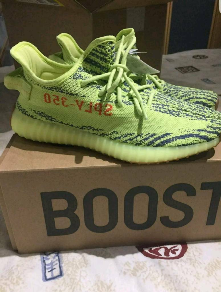 fb204e01796 Adidas Yeezy Boost 350 v2 Semi Frozen Yellow - UK Size 9. Seven Sisters ...