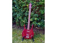 Danelectro Longhorn bass guitar 1995 'Blood Red' reissue Korean retro classic vintage