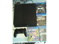 Ps4 and 7 games