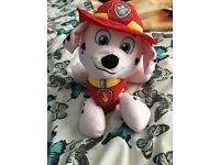Brand new paw patrol Marshall 2 in 1 reversible pillow / soft toy