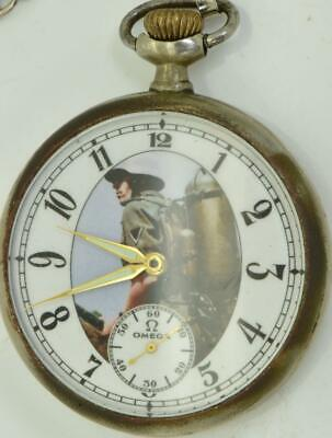 Antique military presentation soldier's Omega pocket watch.Perfect working order