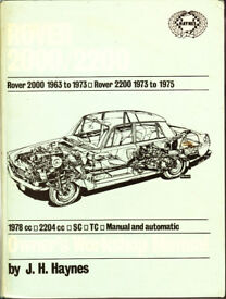 HAYNES ROVER 2000 / 2200 OWNER'S WORKSHOP MANUAL 1963 - 1973
