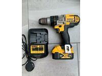 Dewalt DCD985 XR LI-ION 18v Pro 3 Speed Hammer Drill / Driver
