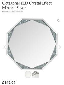 octagonal led Crystal effect mirror