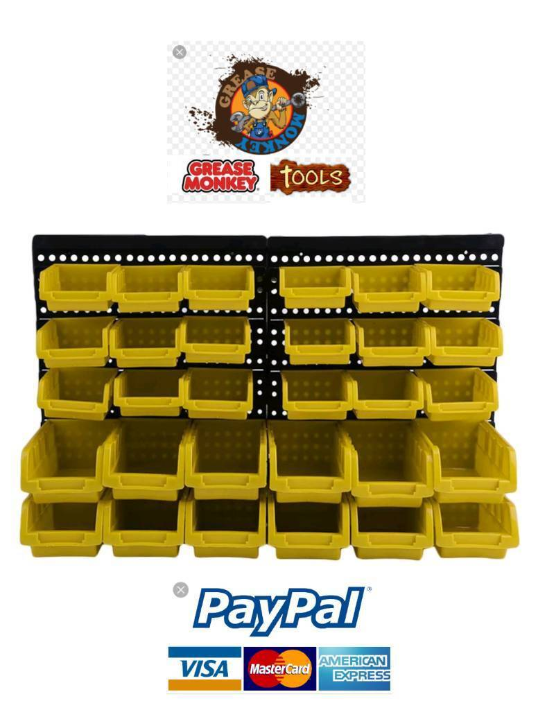 30pcs Plastic Bin Kit Wall Mounted Garage Storage Part Bins | in  Collyhurst, Manchester | Gumtree