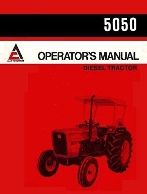 Allis Chalmers 5050 Operators Owners Manual Diesel Tractor Maintenance Operation
