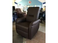 Leather Riser Recliner Armchair, Rise and Recline Chair, Mobility / Disability Aid