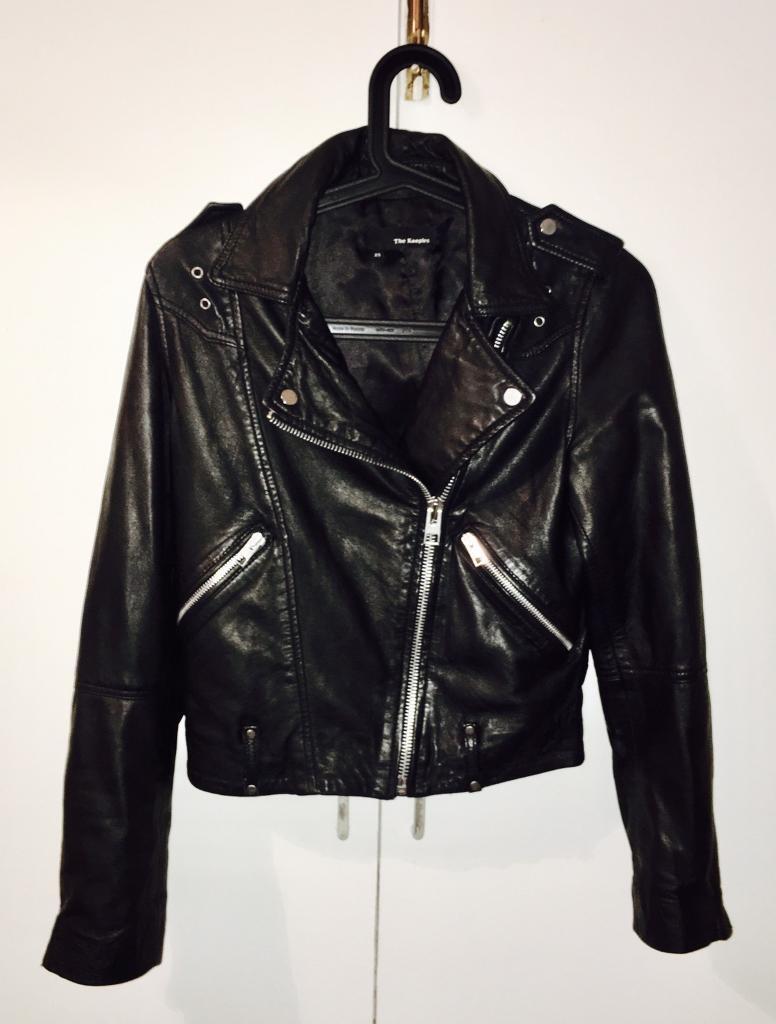 Leather jacket xs - The Kooples Leather Jacket Women S Xs Rrp 600