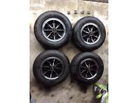 Dunlop D1 Alloys/Wheels Set of 4 With Yokohama tyres