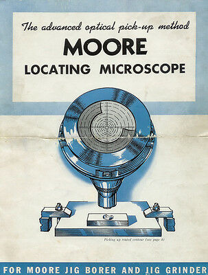 Moore Locating Microscope Owners Instruction Manual Copy Jig Grinder Borer