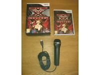 Nintendo Wii Game The X Factor With Logitech USB Microphone As New Condition