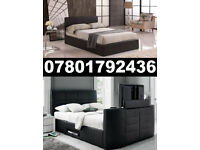 1/ BRAND NEW TV BED WITH GAS LIFT STORAGE Fast DELIVERY 6159