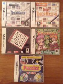 Nintendo DS Games X 5