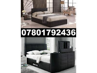 1/ BRAND NEW TV BED WITH GAS LIFT STORAGE Fast DELIVERY 8011