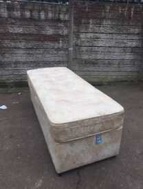 Good condition single divan bed only £45 bargain price
