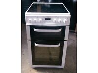 6 MONTHS WARRANTY Bush AA energy rated, 50cm, double oven electric cooker FREE DELIVERY