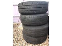 Part worn steel wheels with tyres for VW Transporter Van