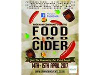 Food and Cide at Wickham Community Centre