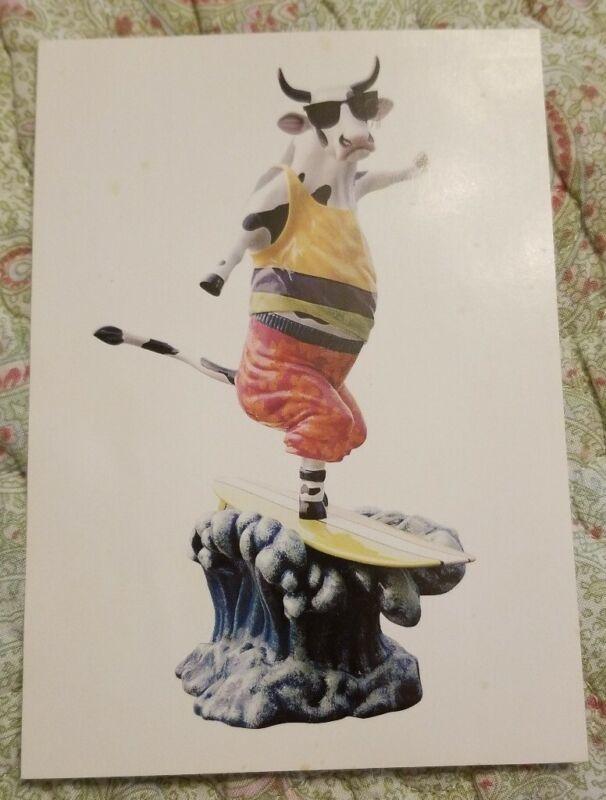 """OFFICIAL COLLECTION """"COWABUNGA"""" ARTIST SILVESTRI COW PARADE ATLANTA 2003 CARD"""
