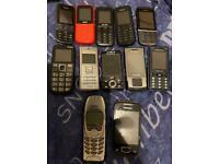 12 basic/retro unlocked mobile phones unlocked all networks an working phones