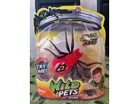 WILD PETS SPIDER SINGLE PACK - RED SPIDER - ELECTRONIC TOYS PETS BRAND NEW