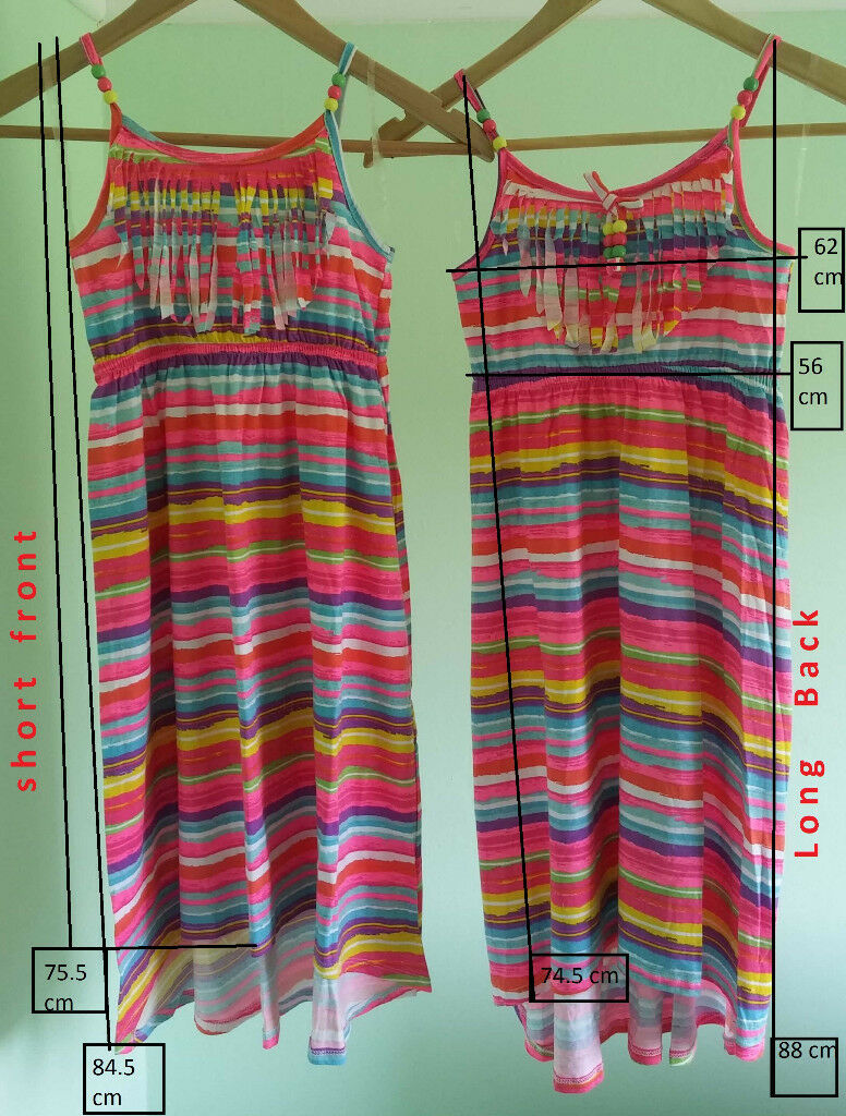 2 Bold and Beautiful Fluorescent Striped Dresses BNWOT