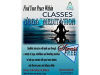 YOGA-MEDITATION CLASSES in Shoreditch! LIMITED SLOTS