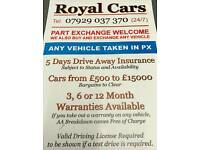 BARGAIN CARS FOR SALE WITH WARRANTY, LPG, DIESEL, DUAL FUEL ALLOYS GOOD TYRES