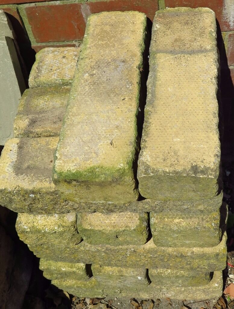 17 x Decorative Buff Walling / Paving Bricks / Blocks. 30 x 9 x 6 cm ...
