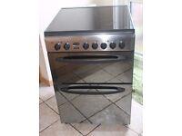 MIRROR EFFECT LOOK IndesitKD6C35 60cm, double oven electric cooker 4 MONTHS WARRANTY